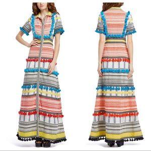Alice & Olivia Phylis Tassle Boho Maxi Dress 4